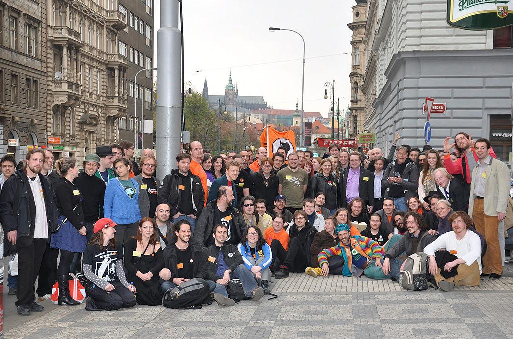 Das Treffen der europäischen Piraten in Prag im April 2012